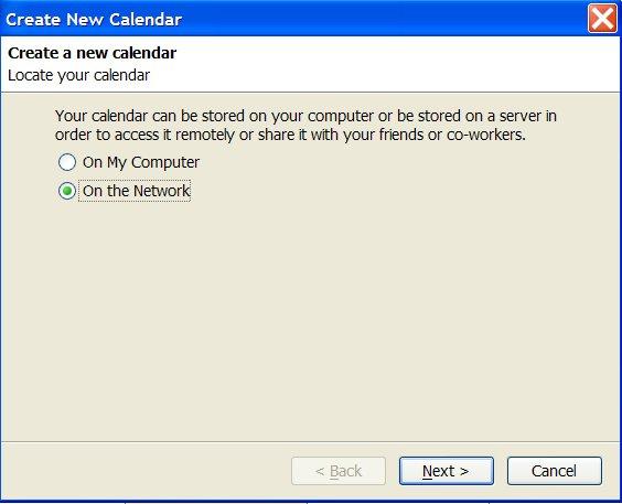 Create New Calendar dialogue in Lightning